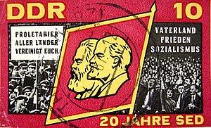 Γραμματόσημο της ΛΔΓ για ΕΣΚΓ