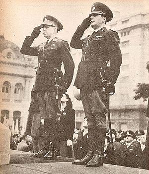 Edelmiro Farrell y Juan Perón. Abril 1945