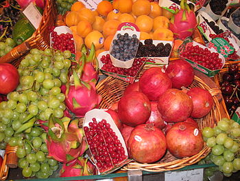 Fruit and berries in a grocery store, Paris, F...