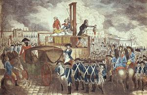 Français : Exécution de Louis XVI, d'après une...