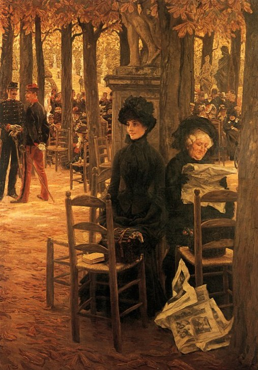 James Tissot - Without a Dowry aka Sunday in the Luxembourg Gardens