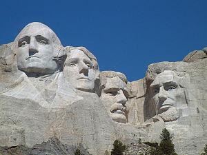 The Mount Rushmore National Memorial.