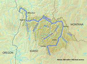 English: Map of the Salmon River watershed in ...