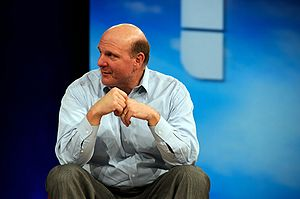 Steve Ballmer at MIX in 2008.