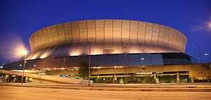 Louisiana Superdome by night