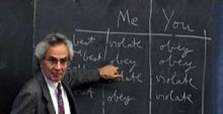 Nagel at a chalkboard