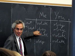 Thomas Nagel teaching an undergraduate course ...