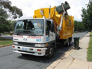 Recycling truck in Canberra, ACT