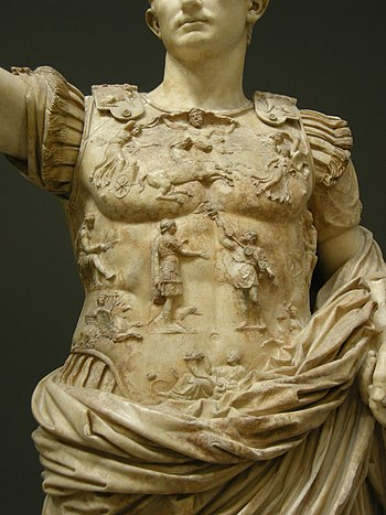 English: Torso of the statue, now in the Bracc...