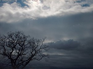 English: Brooding skies Near Ruskie