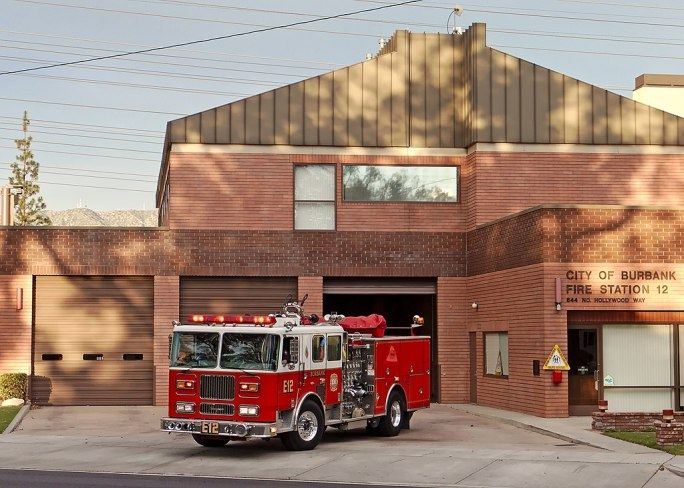 Burbank Fire Station 12 and engine 2015-01-25