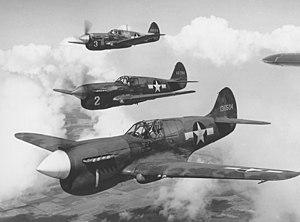 Top to Bottom: P-40 F/L, P-40K Warhawk