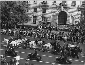 Franklin Delano Roosevelt's funeral procession...
