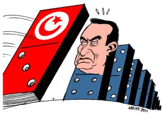 Mubaraks utspel uppror barak