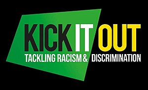 English: Kick It Out logo