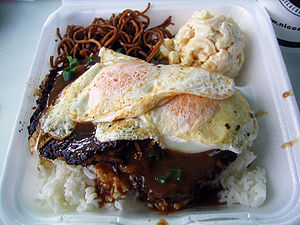 Loco moco, Hawaii's well-known food, at Nico's...