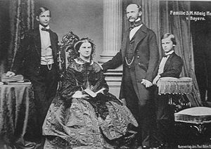 Maximilian II of Bavaria with his wife and two...