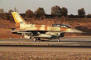 """IAF F-16I Sufa of the 107th Squadron (""""Th..."""