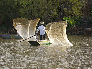 reconstitution of the traditional fishing on t...