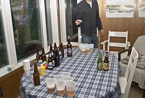 An example of a game of Beer Pong