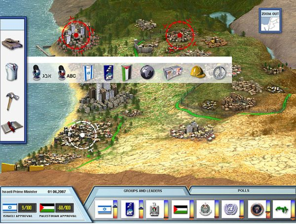 Screenshot of video game PeaceMaker