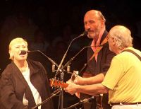 English: Peter, Paul and Mary onstage at the W...