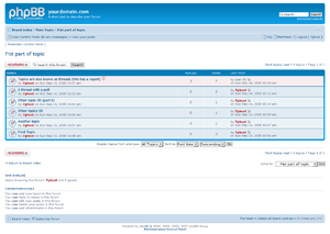 Example forum view, from PhpBB.