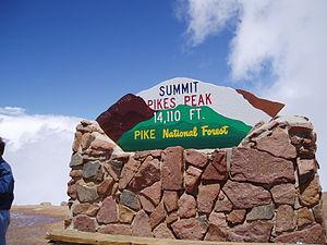 Pikes Peak sign