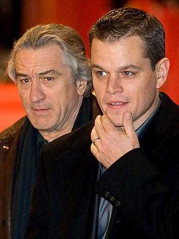 Robert De Niro and Matt Damon arriving at the ...