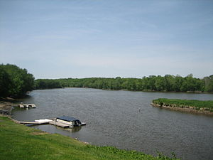 Rock River at Grand Detour, Illinois.