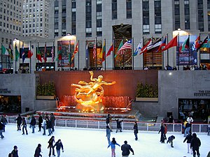 Rockefeller Center, in New York City.