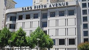 Saks Fifth Avenue at Union Square, San Francisco.