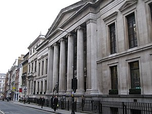 English: The Law Society building, Chancery La...