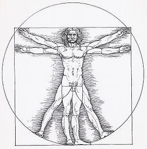English: Vitruvian man by Leonardo da Vinci