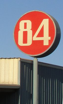 84 Lumber sign - cropped