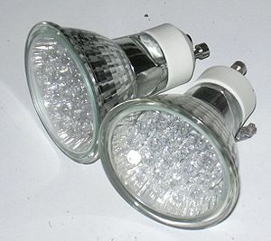 LED Lamp with GU10 twist lock fitting, intende...