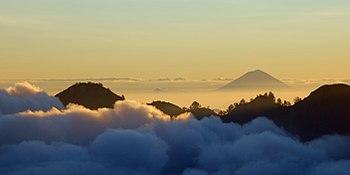 Mount Agung, the highest peak on Bali