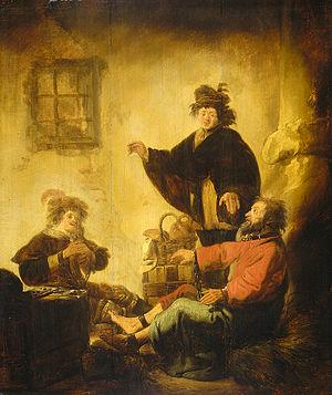 Joseph interpreting the dreams of the baker an...