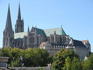 Chartres Cathedral, France, a famous landmark ...