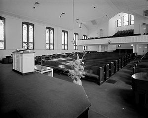 Interior of the historic Ebenezer Baptist Chur...