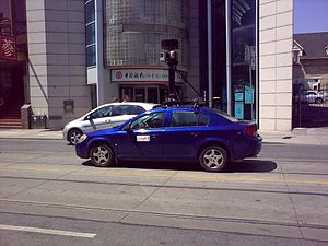 Google Street View Car in Toronto's Chinatown,...