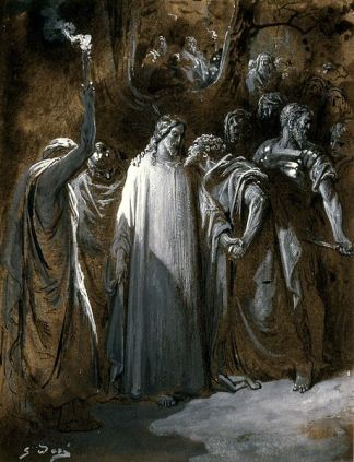 "File:Gustave Doré - Study for ""The Judas Kiss"" - Walters 371387.jpg"