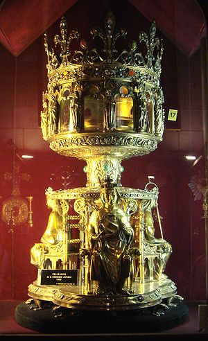 19th century reliquary of The Holy Crown of Je...