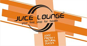 This is the logo of the brand Juice Lounge, wh...