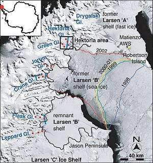 The collapse of the Larsen B ice shelf