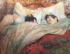 """In Bed"" (1893) by Henri de Toulouse..."