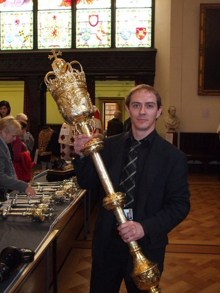 Lord President of the Court of Session's Mace - photo by Ronnie Leask