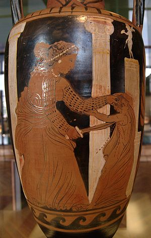 Medea killing one of her sons. Side A from a C...