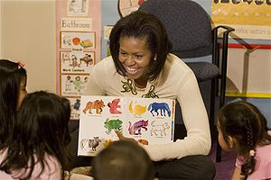 First Lady Michelle Obama at Mary's Center for...
