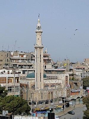 English: A mosque in Hama, Syria Français : Un...